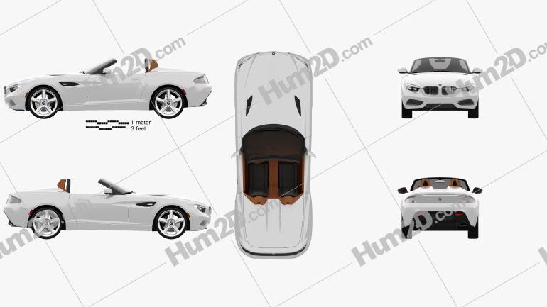 BMW Zagato Roadster 2012 car clipart