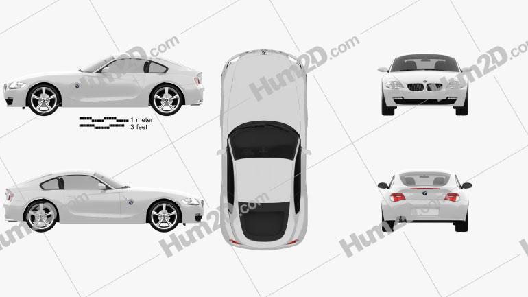 BMW Z4 (E85) coupe 2002 Clipart Image