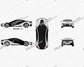 BMW i8 concept 2013 car clipart