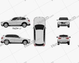 BMW X5 (F15) 2014 car clipart