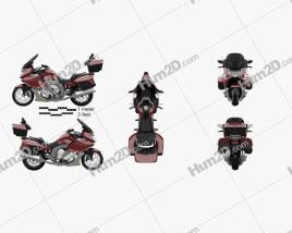 BMW K 1600 GTL 2013 Motorcycle clipart