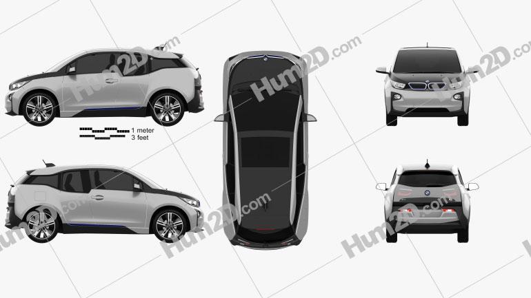 BMW i3 2014 Clipart Image
