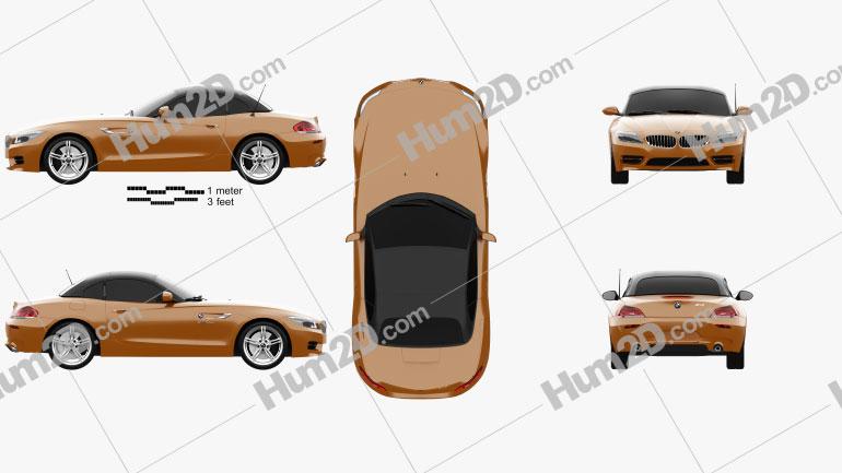 BMW Z4 (E89) roadster 2013 Clipart Image