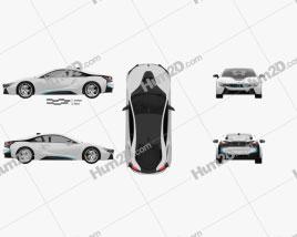 BMW i8 2014 car clipart