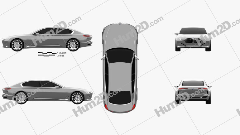BMW Vision Future Luxury 2014 car clipart