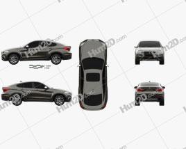 BMW X6 (F16) 2014 car clipart