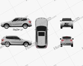 BMW X3 (F25) 2014 car clipart