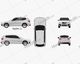 BMW X3 M Sport Package (F25) 2014 car clipart
