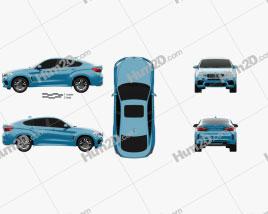 BMW X6 M 2014 car clipart