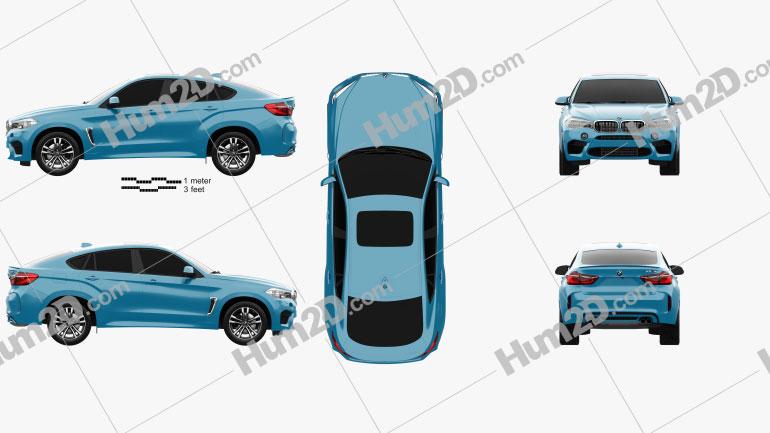 BMW X6 M 2014 Clipart Bild