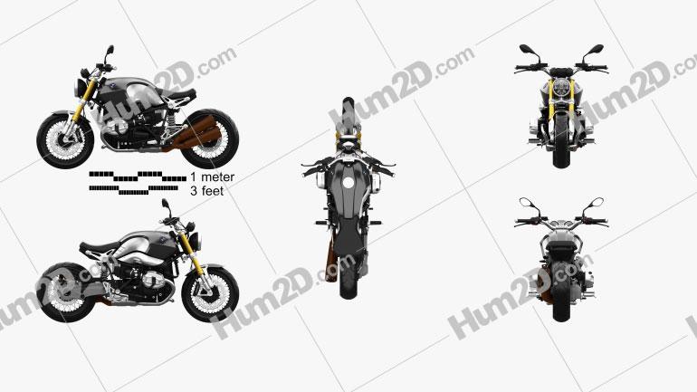 BMW R nineT 2014 Motorrad clipart