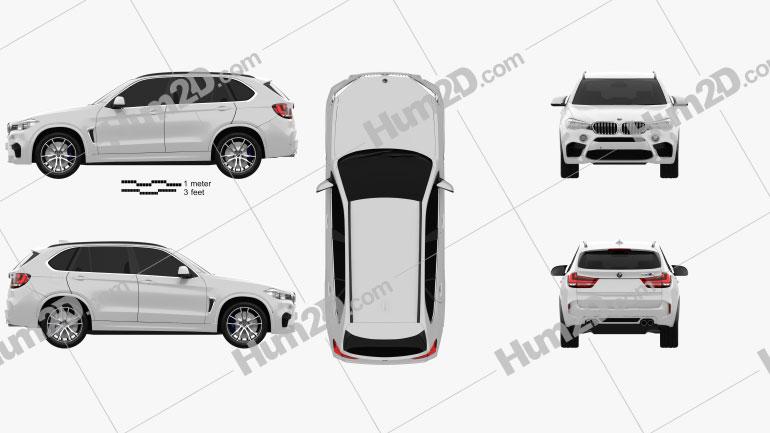 BMW X5 M (F15) 2014 Clipart Bild