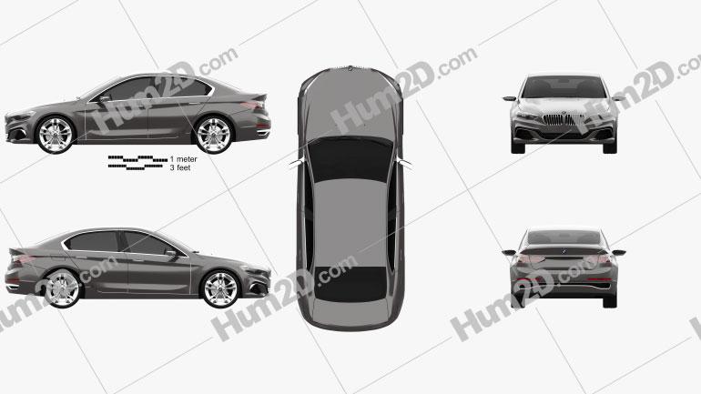 BMW Compact Sedan 2015 car clipart
