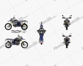 BMW HP2 HPN Enduro 2015 Motorcycle clipart