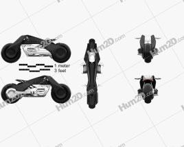 BMW Motorrad VISION NEXT 100 2016 Motorcycle clipart