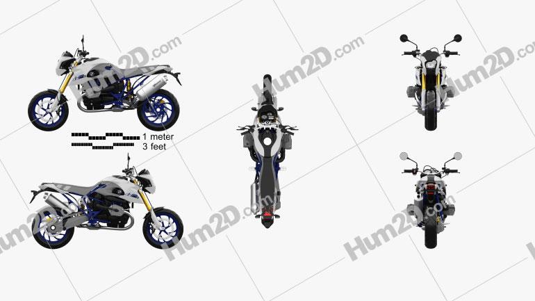 BMW HP2 Megamoto 2008 Motorcycle clipart
