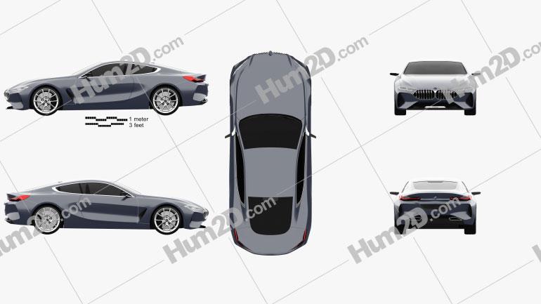 BMW 8 Series 2017 car clipart