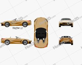 BMW Z4 concept 2017 car clipart