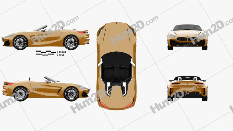 BMW Z4 concept 2017 Clipart Image