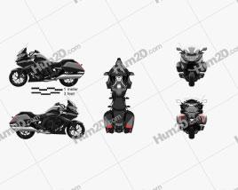 BMW K1600B 2017 Motorrad clipart