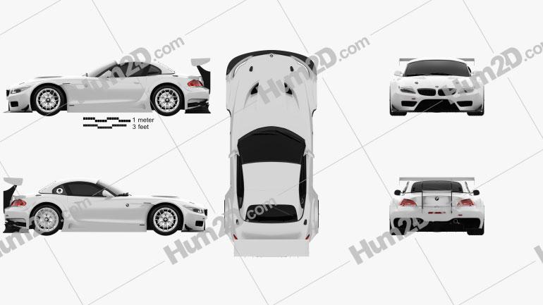 BMW Z4 GT3 2010 car clipart