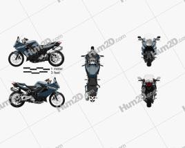 BMW F800GT 2018 Motorrad clipart