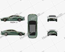 BMW M8 Gran Coupe 2018 car clipart
