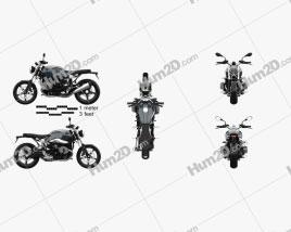 BMW R nineT Pure 2018 Motorrad clipart