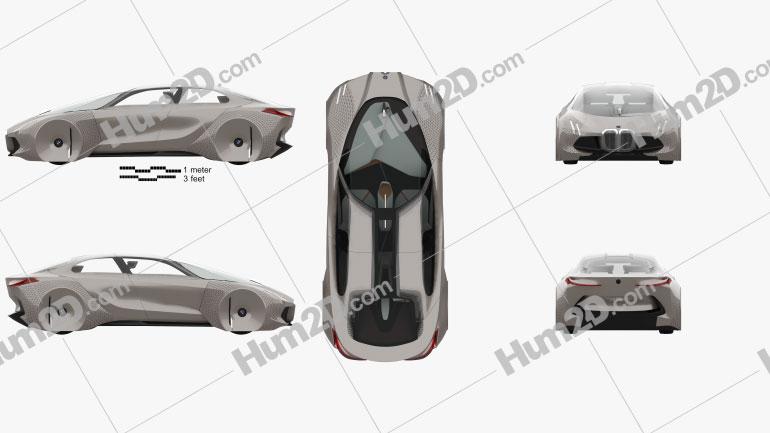 BMW Vision Next 100 com interior HQ 2016 car clipart
