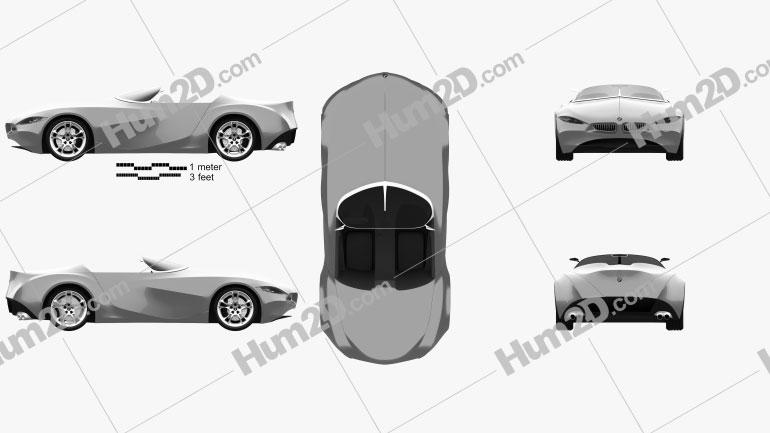 BMW GINA Light Visionary Model 2008 car clipart