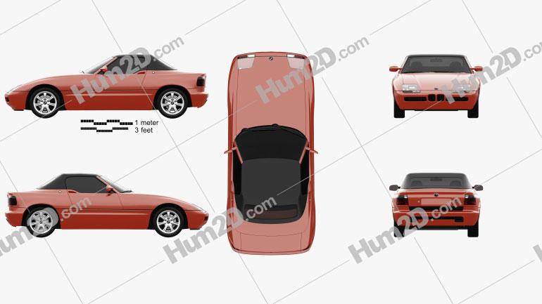 BMW Z1 1988 car clipart