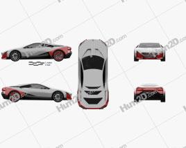 BMW Vision M Next 2019 car clipart