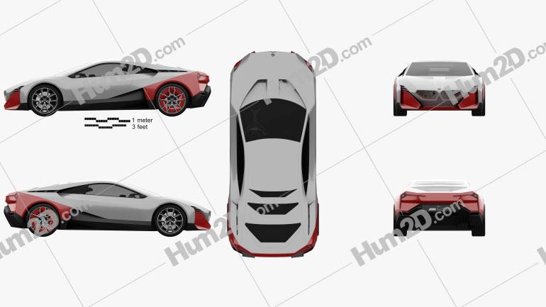BMW Vision M Next 2019 Clipart Image