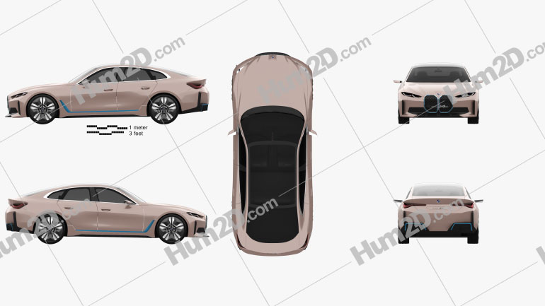 BMW i4 2020 Clipart Image