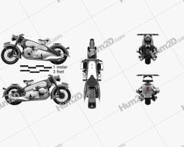 BMW R7 Nostalgia 2020 Motorcycle clipart