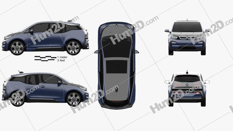 BMW i3 2017 car clipart