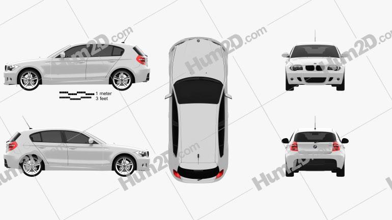 BMW 1 Series M-Sport 2009 car clipart