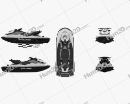 BRP Sea-Doo GTI SE 130/155 2012 Clipart