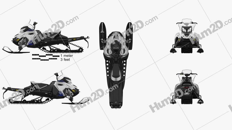 BRP Lynx Xtrim SC 900 ACE 2015 clipart