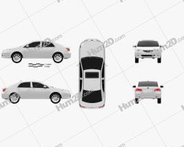 BYD G3 2012 car clipart