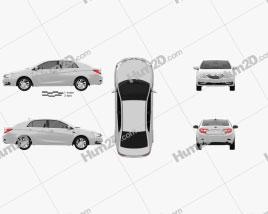 BYD G5 2014 car clipart