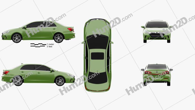 BYD Qin 2014 car clipart