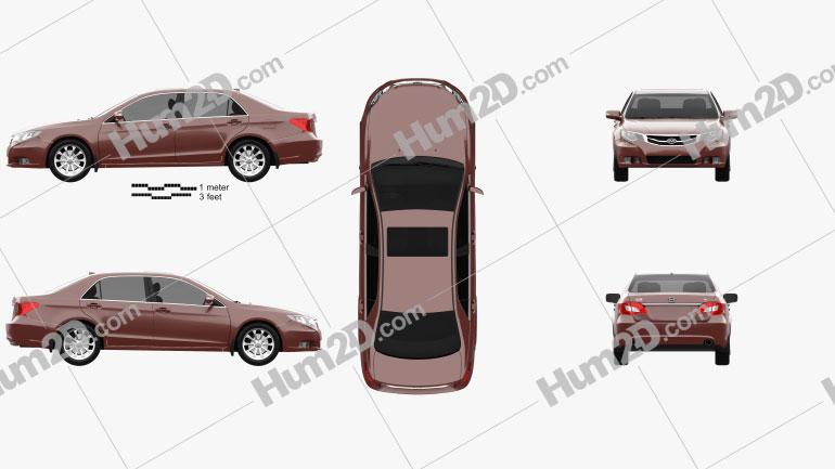 BYD Si Rui 2013 car clipart