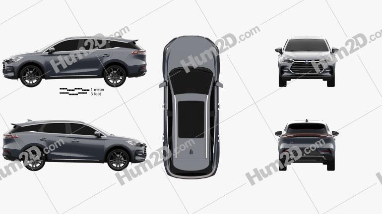 BYD Tang DM 2020 car clipart