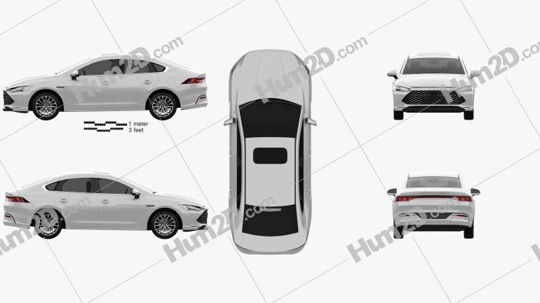 BYD Qin Plus 2021 car clipart