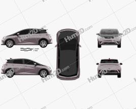 BYD EA1 2021 car clipart