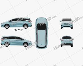 BYD E6 2021 car clipart