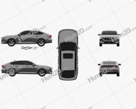 Baojun RC-5 2020 car clipart