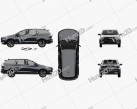 Baojun RS-7 2020 car clipart