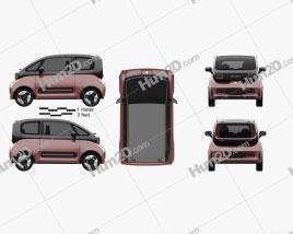 Baojun E300 Plus 2020 car clipart